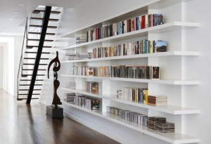 modern-white-home-library-design-modern-white-wooden-wall-bookcases-an-unique-sculpture-ideas