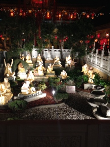 Buddha garden at the Hsi Lai Buddhist Temple